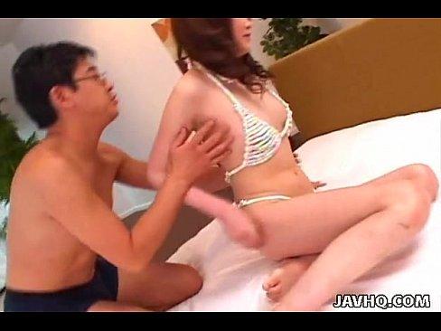 Naughty Japanese babe toyed and fucked