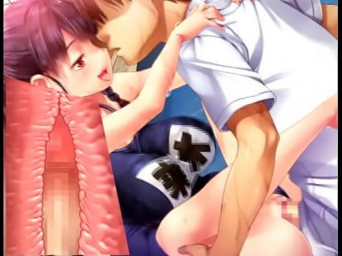 エロアニメスクール水着彼女と駅弁体位でエッチして精液ぶっかけベロチュー中出しSEX