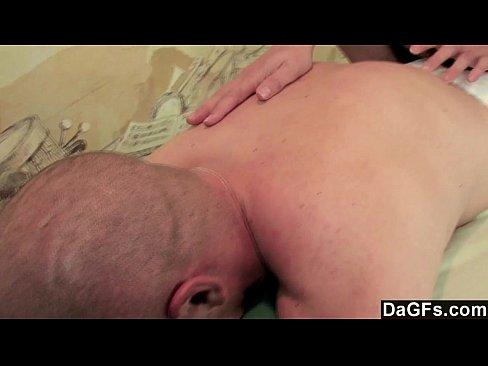 Dagfs - Busty Teen's Massage Gets His Cock Rock Hard