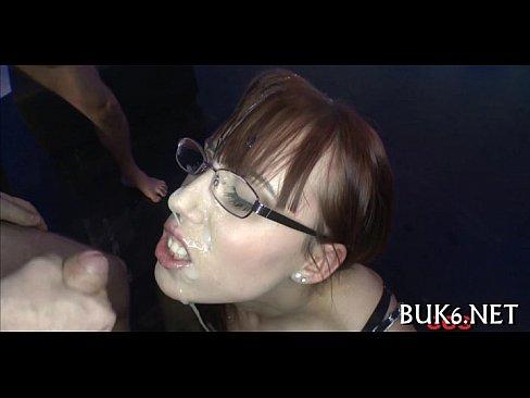 Wild fellatio for warm sex cock juice