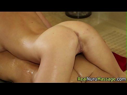 Alluring masseuse bang