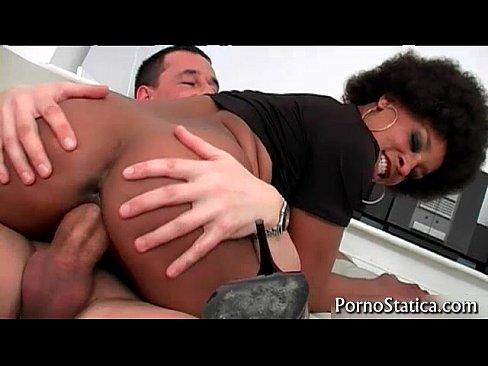 Black slut Lala X rides some fat cock