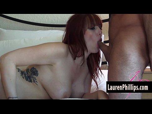 Big Tit Redhead Lauren Phillips Loves Sucking Cock!