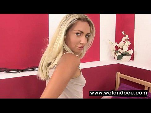 Hottie licks her soiled panties in this video