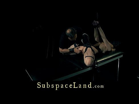 Punished and fucked, sub slave is disciplined with bondage humiliation