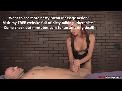 Sinister massage therapist has cock fun