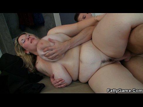 Big tits blonde spreads legs for stranger