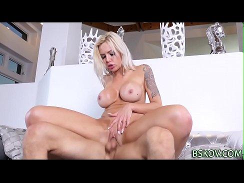 Busty pornstar rides dick
