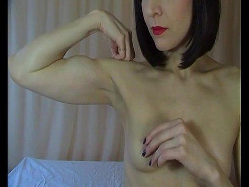 Flexing topless