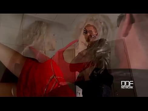 The Locker Rocker - Bound Submissive Blonde Ass Fucked