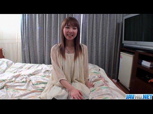 Small tits Akane Okuno posing in rough hardcore scenes