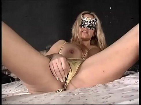 Mature blonde with nice tits has solo sex