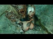 Novinha do videogame skyrim fazendo sexo com monstro