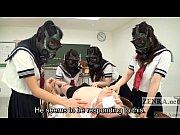 Picture CFNM Gas Mask Japanese schoolgirls inspectio...