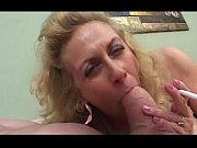 Picture Granny smokes while sucking cock