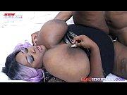 Picture Big black boobs bouncing while Zariah June b...