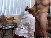 Picture Pretty plump secretary sucks the boss