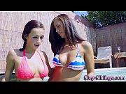 Picture Young Girl 18+ bikini step lez lick