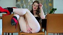 Hairy pussy teasing with Gemma Minx