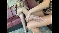 Foot fucking bisexuals get cock