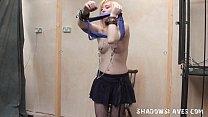 Satine Spark in public lesbian bondage and voye...