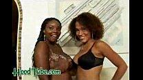Busty ebony dykes in black lesbian porn