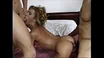 Blonde & 3 cocks