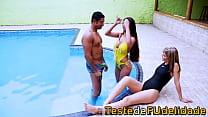 natação de professor atacam gostosas de Dupla