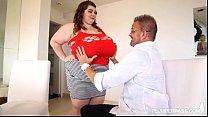 Huge Tit BBW Lexxxi Luxe Plays With Her Stepdad...