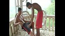 Botando no cuzinho do garoto brasil