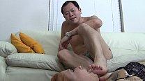 Female worship male feet