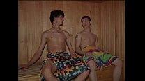 2 boys in sauna