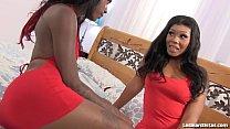 2 Fine-Ass Ebony Ladies Pop Their Pussies!