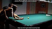 Pick up anal fuck on billiard table