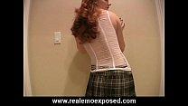 Meaghan's Schoolgirl Strip Show