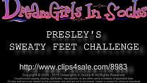 Presley's Sweaty Feet Challenge - www.c4s.com/8...