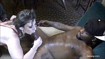 Interracial Slut Sara Jay Gets Throat Fucked By...
