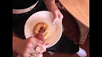 cum on food  glazed donut  XVIDEOSCOM