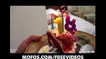 Alana Rains celebrates her birthday with a roug...