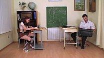 alumna zorra sola en clases con su profesor