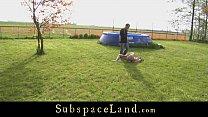 A slavegirl's outdoor tormenting expoitation