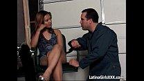Sweet Latin slut gets that wet pierced