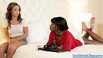 Ebony stepsisters explore their lesbian sides