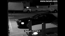 Security Camera Captures Blowjob on Car