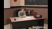 Hot schoolgirl doing a principal's dick