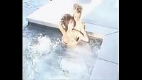 Tila Tequila (Nguyen) & Felicia Tang in pool