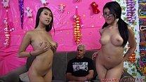 Jayden Lee & Sharon Lee Compete In Cock Sucking...