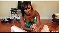 Ebony In A Bikini Jerking
