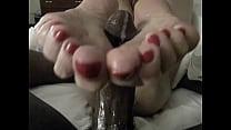 Foot Slut Terresa D Strokes A cumshot from A b...