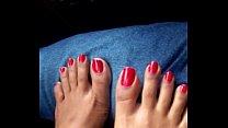 Indian feet red toenails teasing fjindianindian